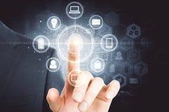 Концепция биометрии и доступа стоковые изображения