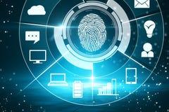 Концепция биометрии и доступа стоковые фото