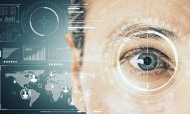 Концепция биометрии и технологии стоковые фотографии rf