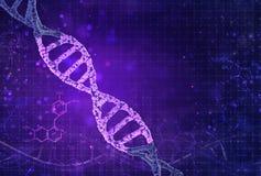 Концепция биохимии с молекулой ДНК на предпосылке цвета Предпосылка концепции науки бесплатная иллюстрация