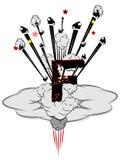 Концепция бомбы f Стоковое Фото