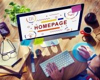 Концепция браузера вебсайта домашней страницы Blogging Стоковые Фотографии RF