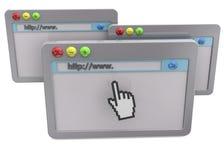Концепция браузера - 3D Стоковые Фото