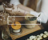 Концепция бренда бирки Copyspace штемпеля имени ярлыка значка Стоковое Фото
