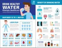 Концепция брошюры значка элементов вектора здоровья еды infographic бесплатная иллюстрация