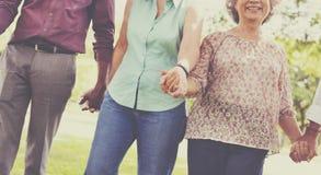 Концепция благополучия выхода на пенсию единения пожилая Стоковые Изображения