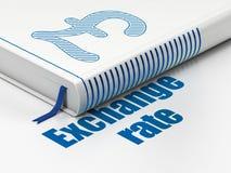 Концепция валюты: фунт книги, обменный курс на белой предпосылке иллюстрация вектора
