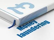 Концепция валюты: фунт книги, отмывание денег на белой предпосылке бесплатная иллюстрация