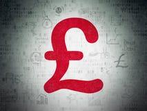 Концепция валюты: Фунт на предпосылке бумаги цифровых данных бесплатная иллюстрация