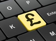 Концепция валюты: Фунт на предпосылке клавиатуры компьютера бесплатная иллюстрация