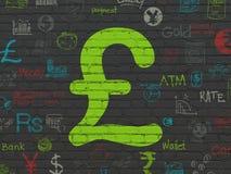 Концепция валюты: Фунт на предпосылке стены иллюстрация вектора