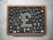 Концепция валюты: Фунт на предпосылке школьного правления иллюстрация штока