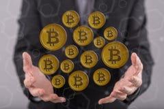 Концепция валюты bitcoin Стоковое Изображение RF
