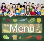 Концепция варианта выбора списка напитка еды меню отборная Стоковое Фото