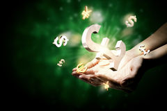 Концепция валюты денег Стоковое Изображение RF