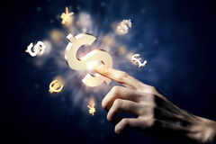Концепция валюты денег Стоковые Изображения