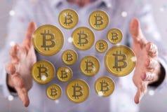 Концепция валюты bitcoin Стоковое Изображение