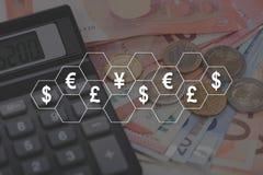 Концепция валют Стоковая Фотография RF