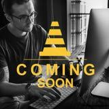 Концепция Веб-страницы вебсайта клина молотка конструкции Стоковая Фотография