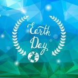 Концепция вектора дня земли Низкая поли предпосылка Стоковая Фотография RF