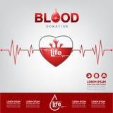Концепция вектора донорства крови - больница, который нужно начинать новая жизнь снова Стоковые Изображения