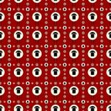 Концепция вектора плоская безшовного дизайна картины Стоковая Фотография