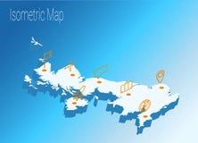Концепция Великобритании карты равновеликая Стоковые Изображения RF