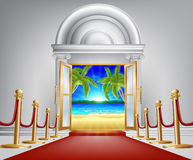 Концепция двери пляжа Стоковое Изображение
