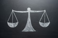 Концепция весов с чистыми листами баланса активов и пассивов стоковая фотография