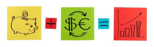 Концепция вклада.   стоковое изображение