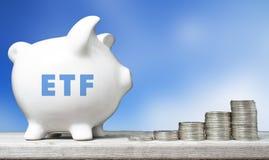 Концепция вклада ETF Стоковые Фотографии RF