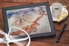 Концепция воздушного фотографирования - предгорья Колорадо Стоковое Фото