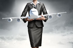 Концепция воздушных судн или деловых поездок Стоковые Фотографии RF