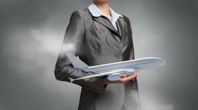 Концепция воздушных судн или деловых поездок Стоковое Изображение