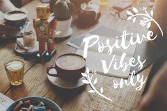 Концепция воодушевленности мотивировки положительной ориентации думая стоковые фото