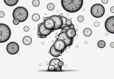 Концепция вопросе о времени иллюстрация штока