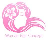 Концепция волос цветка женщины Стоковые Изображения RF