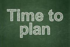 Концепция времени: Время запланировать на предпосылке доски иллюстрация штока