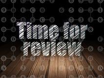 Концепция времени: Время для обзора в комнате grunge темной иллюстрация вектора