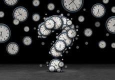 Концепция времени запросов Стоковая Фотография