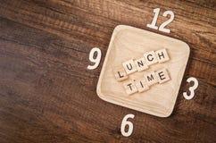 Концепция времени обеда Стоковые Изображения