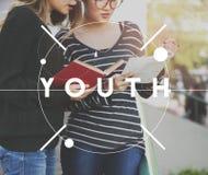 Концепция времени поколения подростка молодости молодая Стоковые Фотографии RF