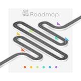 Концепция временной последовательности по равновеликой карты навигации infographic абстрактная Стоковая Фотография