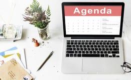 Концепция встречи события календаря план-графика назначения стоковое фото rf