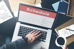 Концепция встречи события календаря план-графика назначения стоковая фотография rf