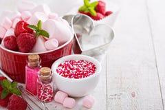 Концепция выпечки дня валентинок Стоковое Фото