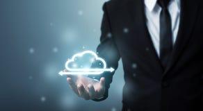 Концепция вычислять облака и сетевого подключения технологии, Busin стоковые изображения
