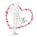 Концепция влюбленности и отношений иллюстрация вектора