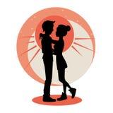 Концепция влюбленности и отношений иллюстрация штока