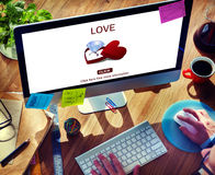 Концепция влюбленности пар обручального кольца влюбленности Стоковое фото RF